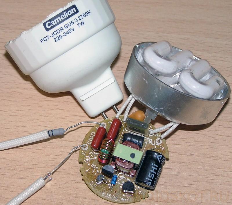 каждой лампочка и конденсатор схема фото исторические